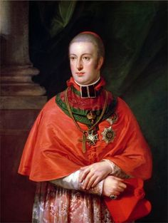 Archduke Rudolf of Austria (1788–1831), Cardinal, Archbishop of Olmütz, by Johann Baptist von Lampi the Elder.