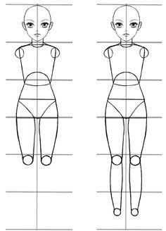 An Easy Anime Body Proportions Tutorial - Manga Tuts