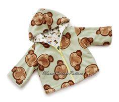 Baby jacket pattern sewing, toddler dress sewing pattern, hooded coat pattern, PDF files,9M, 12M, 18M, 2, 3Years