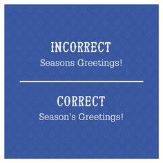 Season's Greetings or Seasons Greetings? Season's Greetings is correct! 