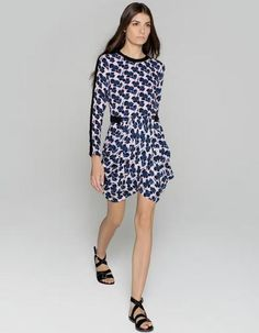 Rachel Bilson wearing A.L.C. Floral Print Dress.