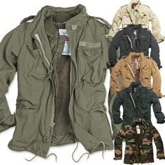 Army Field Jacket, Military Jacket, Marine Hose, Anime Jacket, M65 Jacket, Us Army Patches, Tactical Jacket, Tactical Clothing, Vintage Jacket