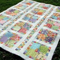 Square Dance. Oh My... I LOVE this!!!!! Might be my next quilt! I have a lot of cute scraps I could do this with!
