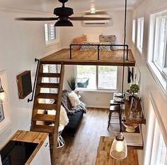 Tiny House Loft, Tiny House Living, Tiny House Plans, Tiny House Design, Tiny Houses, Small Living, Loft Interior Design, Loft Design, Small Room Design