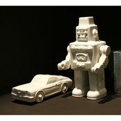 White Robot By Seletti Memorabilia Vintage Ornaments Retro Robot, I Robot, Vintage Ornaments, Fine Porcelain, Deco, Vintage Fashion, Ceramics, Cool Stuff, Interiors