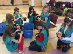 Awesome girl scouts build feral cat shelters