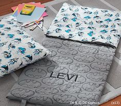 It's a sign... Batman and Levi's name!  Batman™ Sleeping Bag #pbkids
