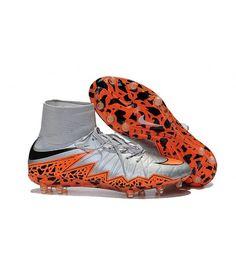 ec3e10a3bbe8cd Nike Hypervenom II Phantom Premium FG PEVNÝ POVRCH Flywire High Top Stripe  Men kopačky - stříbro oranžový černá