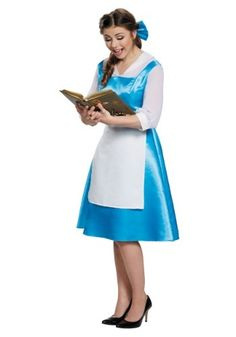 Adult's Womens Disney Princess Beauty And The Beast Belle Blue Dress Costume Adult Belle Costume, Belle Blue Dress Costume, Belle Halloween Costumes, Blue Costumes, Belle Dress, Halloween Dress, Costume Dress, Adult Costumes, Adult Halloween
