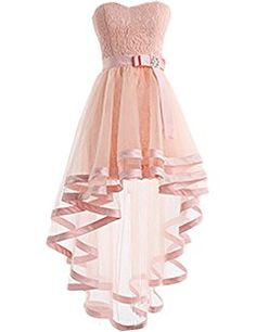 Dresstells® High Low Bridesmaid Dress Tulle Lace Homecoming Dress Prom Dress • THIS IS ABSOLUTELY GORGEOUS