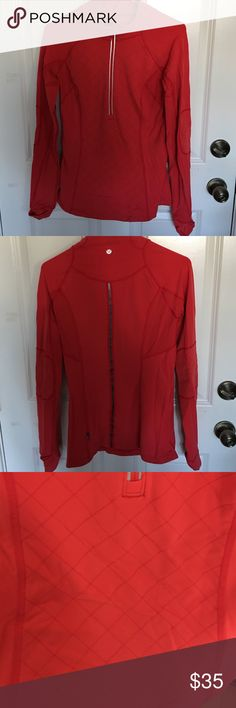 Lululemon red track jacket Loved this! Still in super great condition lululemon athletica Jackets & Coats