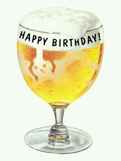 Happy birthday beer
