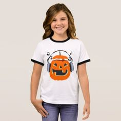 Halloween music ringer T-Shirt - baby gifts child new born gift idea diy cyo special unique design