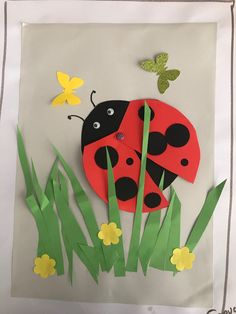 April crafts for kids 42003 - One Kindergarten Art, Preschool Crafts, Easter Crafts, Easy Arts And Crafts, Crafts To Do, Crafts For Kids, Crab Crafts, Ladybug Crafts, Daycare Crafts