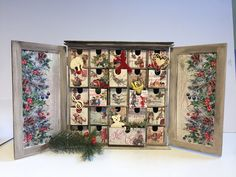 Advent Calendar / Christmas Countdown / Christmas Count Down / Christmas Calendar / Vintage Style Decoration / Vintage Style Advent Calendar/ Calambour/Decoupage Calambour/ rice paper /mulberry paper/decoration