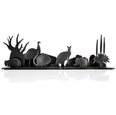 Australiana Diorama set - cut steel forms by Peter Mclisky. Highlights what a strange country I live in, I think.