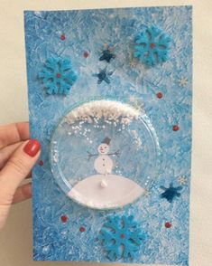 Snowman Crafts, Xmas Crafts, Diy Crafts, Winter Art, Winter Theme, Victorian Wind Chimes, Winter Crafts For Kids, Art For Kids, Kids Christmas