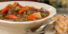 The best beef stew ever. This is from their Eat, Shrink and be Merry book. Here's a version which is available on-line.. The biscuits might sound like extra work.. but they make it awesome!   Easily adapted to a crockpot.