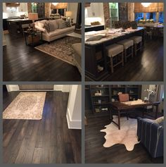 Nashville tour of homes with Mannington Mountain View Acorn hardwoods in the foyer, great room, kitchen & home office.