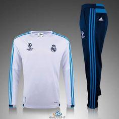 equipement football nouveau Champions league Survetement Real Madrid Blanc 2016 en ligne