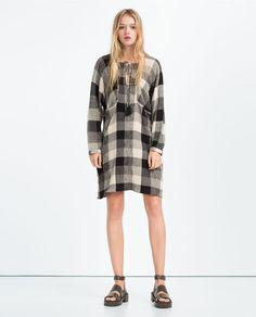 ZARA - WOMAN - CHECK PRINT DRESS