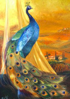 Tuscan peacock Painting at ArtistRising.com