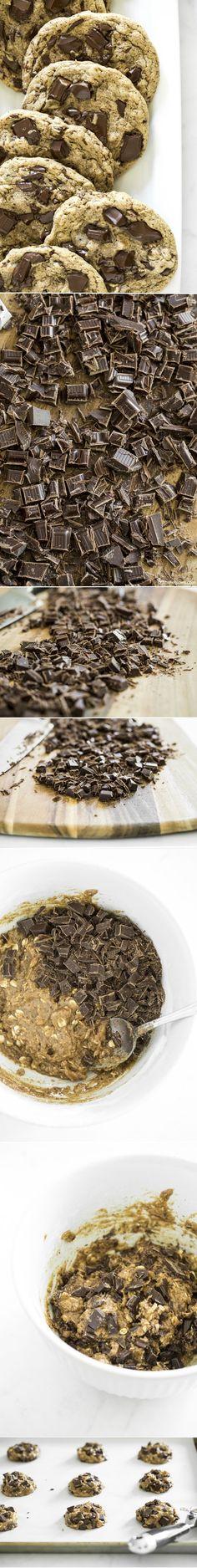 One Bowl Jumbo Chocolate Chunk Cookies (vegan + gf) — Oh She Glows