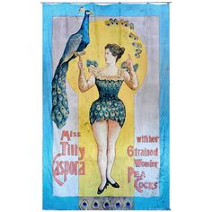 Hand-Painted Carnival Sideshow Banner | From a unique collection of antique and modern carnival art at https://www.1stdibs.com/furniture/folk-art/carnival-art/
