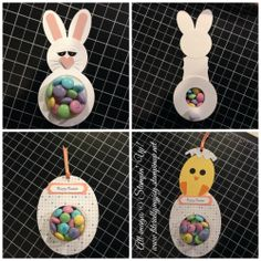 Easter M&M treats. Punch art and treat cups! DIY Stampin' Up!