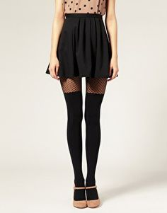faux thigh high tights from asos