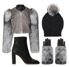 """Winter Accessories"" by dominosfalldown ❤ liked on Polyvore featuring Oscar Tiye, Carolina Amato and winteressentials"