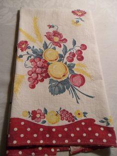 1940s Kitchen Towel Fruit Startex Mills by AmeliesFarmhouse