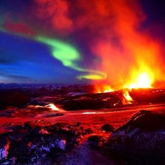 """""""What can we say..We Love Volcanos & the Northern Lights! """""""