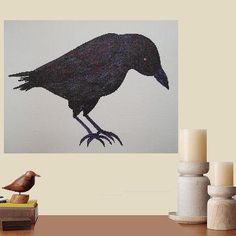 Charles+the+raven....+original+painting+marker+on+paper+von+Pepponi,+€19,00