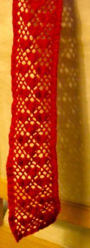 Shell filet heart lace scarf ~ free pattern