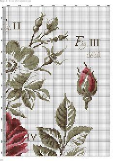 Foto Cross Stitch Love, Cross Stitch Flowers, Cross Stitch Designs, Cross Stitch Patterns, Cross Stitching, Cross Stitch Embroidery, Needlepoint, Red Roses, Photo Wall