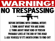 funny no trespassing sign - Google Search