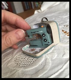 Dollhouse Väinölä: Sewing Machine - she shows some of how she made the sewing…  #RePin by AT Social Media Marketing - Pinterest Marketing Specialists ATSocialMedia.co.uk