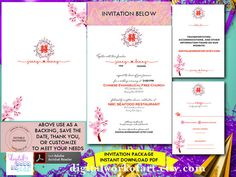 Wedding Invitation Template Wedding Invitation by digitalworkofart