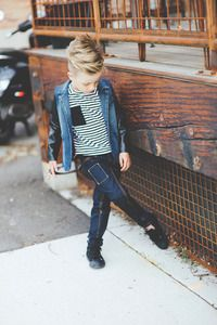 Sailor chic combined with the street hip vibe. Love this striped tee from Aven, new boys' line!