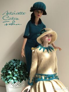 Fashion Dolls Couture - Unlimited: 1920s Downton Abbey Knitted Dresses.