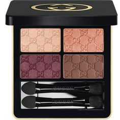 Gucci Autumn Fire, Magnetic Color Shadow Quad ($64) ❤ liked on Polyvore featuring beauty products, makeup, eye makeup, eyeshadow, beauty, eyes, quad eyeshadow, shadow brush, eye shadow brush and eyeshadow brushes