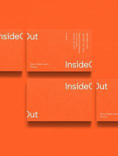 InsideOut Architecture by Big Fan Design Brochure, Letterhead Design, Identity Design, Visual Identity, Identity Branding, Business Branding, Branding Ideas, Corporate Branding, Personal Branding