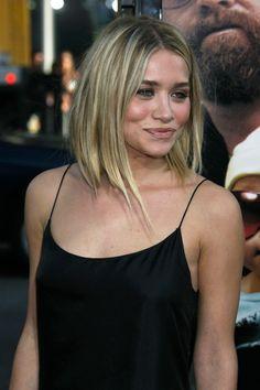 Ashley Olsen - growing out a bob
