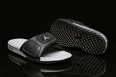 9a10cff81b0547 Discount Air Jordan Hydro 3 III Retro Black Silver Sandals 854556-001 Free  Shipping Jordan