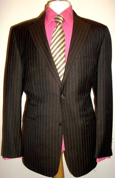 Taylor Rae Luxury Men`s Pinstriped Suit