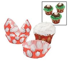Party902 -Baseball Cupcake Liners (100pc) $3.99