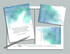 DIY Watercolor Wedding Invitation Suite printable by nraevsky, $29.00