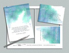 DIY Watercolor Wedding Invitation Suite printable by nraevsky, $29.00
