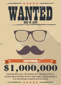 Most Wanted Poster Template  Printable Flyer Design Old Crumpled